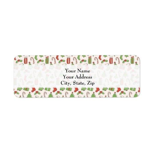 Étiquette de adresse d'étiquette de cadeau de Noël