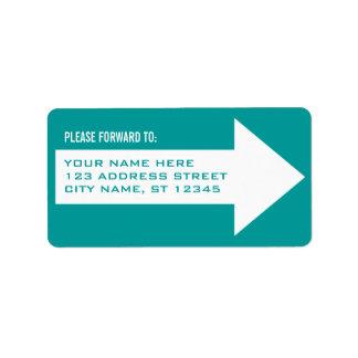Étiquette de adresse d'expédition de flèche