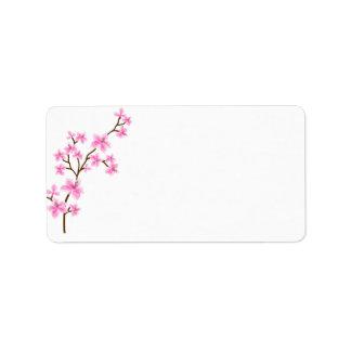 Étiquette de adresse d'expédition de fleurs de