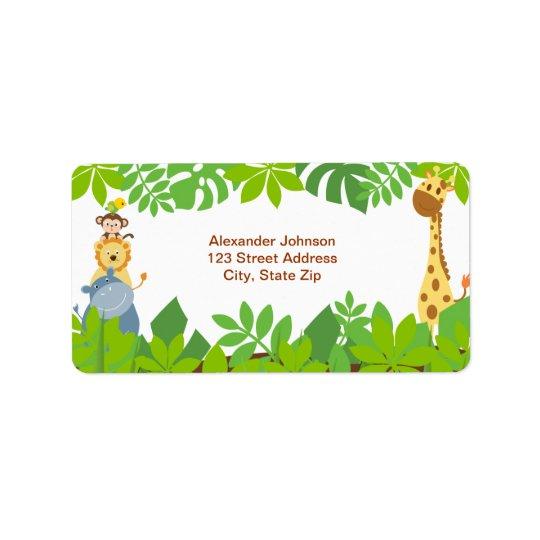 Étiquette de adresse drôle d'animaux de bébé de