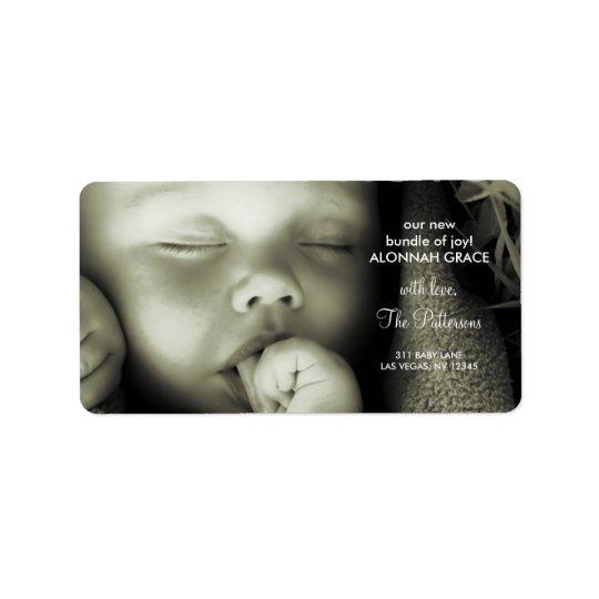 étiquette de adresse du bébé 311-Customizable