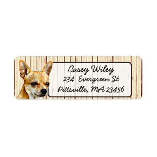 Étiquette de adresse en bois de retour d'arrière -