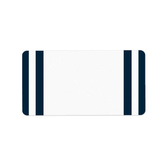 Étiquette de adresse final de rayure de marine