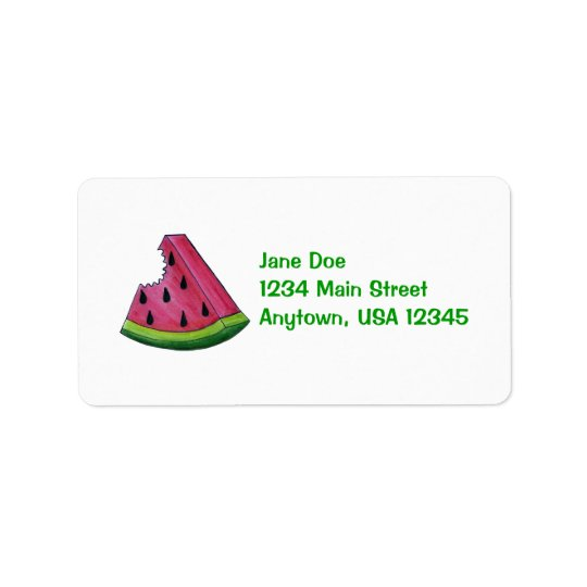 Étiquette de adresse fruité de tranche de fruit de