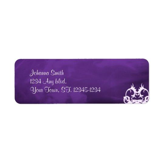 Étiquette de adresse gothique de coeurs de lavande