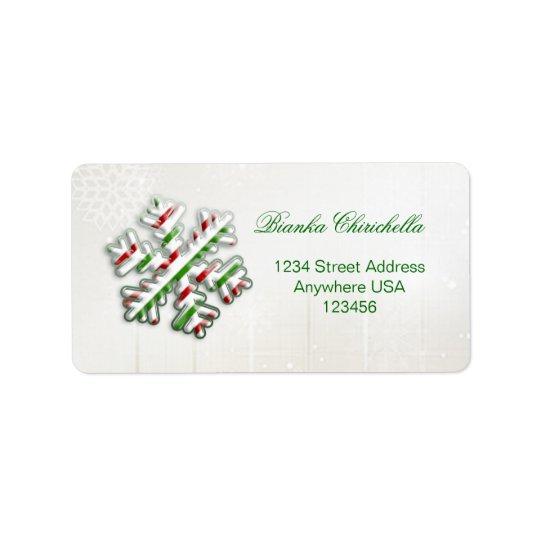 Étiquette de adresse italien d'Avery de flocon de