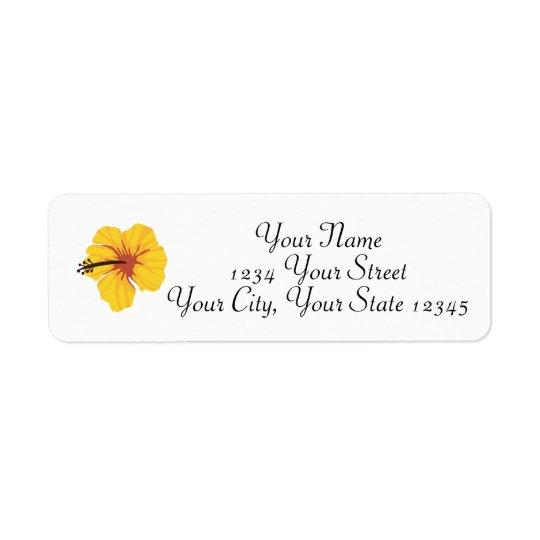 Étiquette de adresse jaune de ketmie