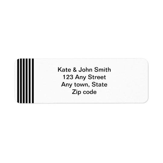 étiquette de adresse noir et blanc