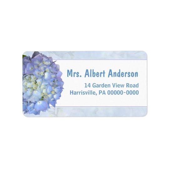 Étiquette de adresse nommé simple d'hortensia de