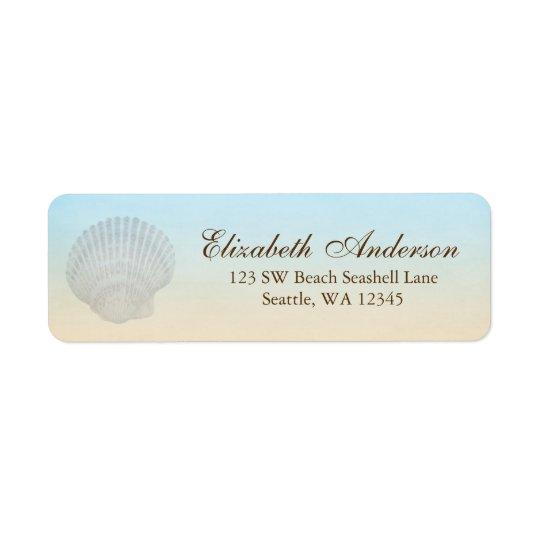 Étiquette de adresse personnalisé par plage de coq