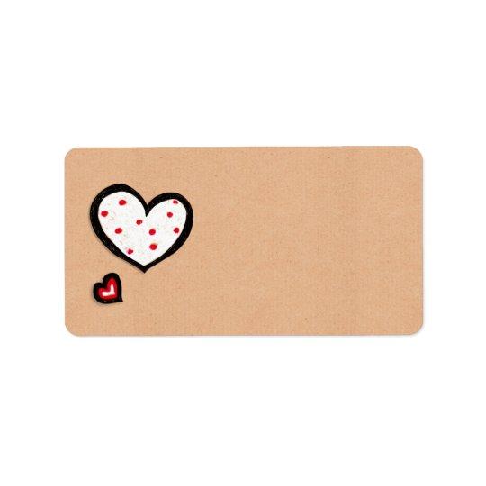 Étiquette de adresse pointillé de papier