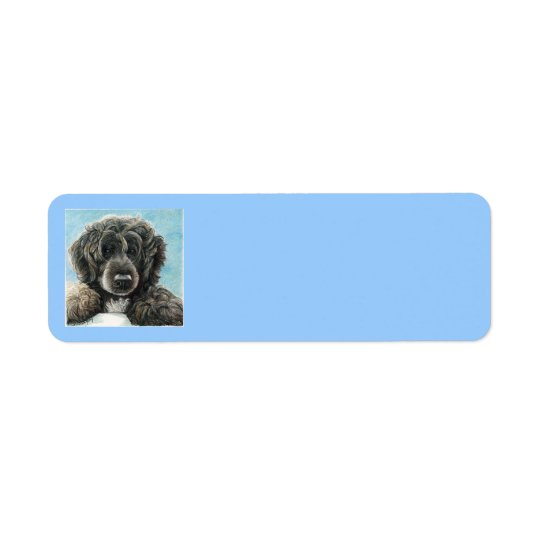 Étiquette de adresse portugais de chien d'eau