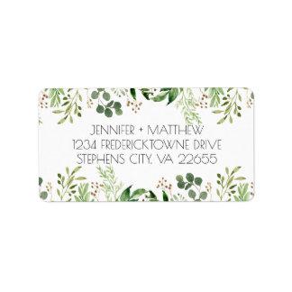 Étiquette de adresse rêveur botanique