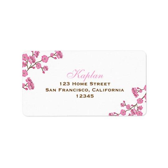 Étiquette de adresse rose de fleurs d'Avital Brown