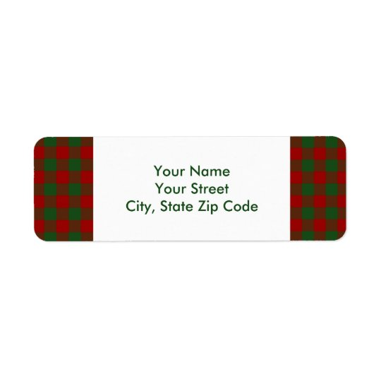 Étiquette de adresse rouge et vert de retour de