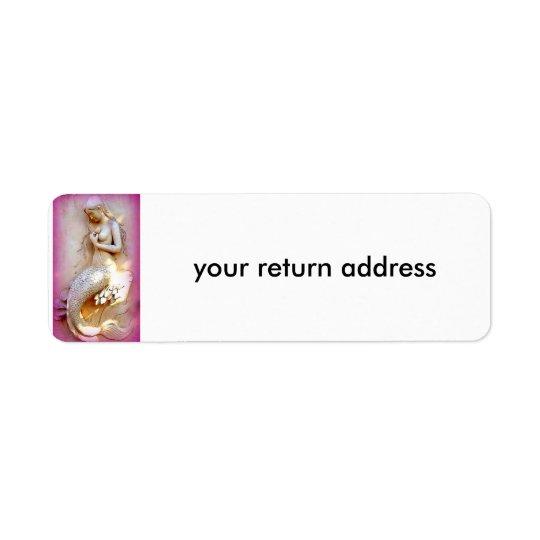 étiquette de adresse se reposant de retour de rose