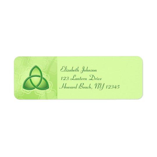 Étiquette de adresse vert de retour de noeud