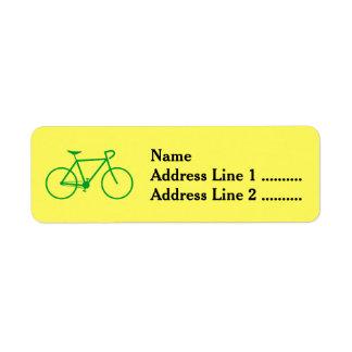 Étiquette de adresse vert de retour de silhouette