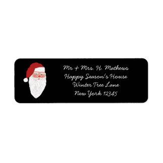 Étiquette de adresse vintage de retour de Noël de