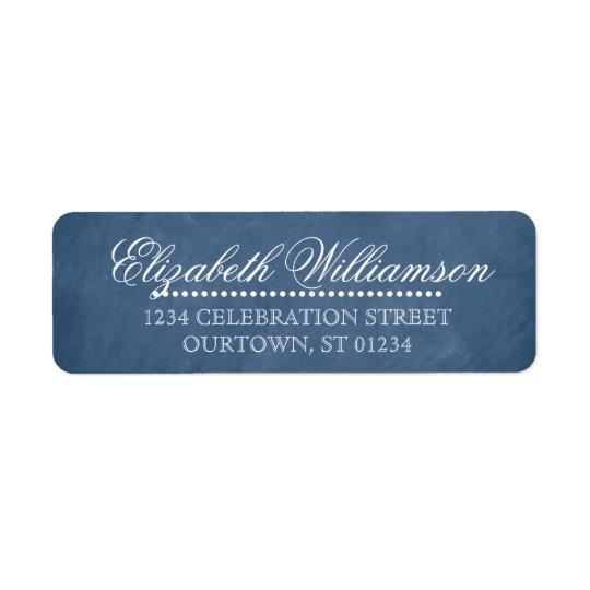 Étiquette de adresse vintage de tableau