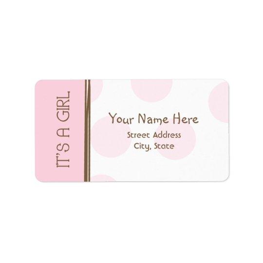 Étiquette de baby shower - rose et Brown - c'est