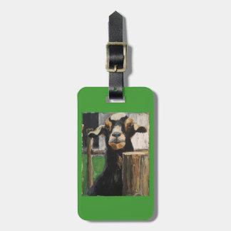 Étiquette de bagage avec la chèvre étiquette à bagage