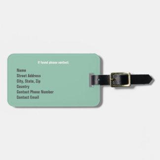 Étiquette de bagage avec le bracelet en cuir étiquette à bagage
