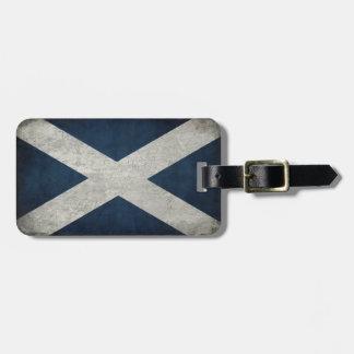 Étiquette de bagage avec le drapeau de l'Ecosse Étiquette Pour Bagages