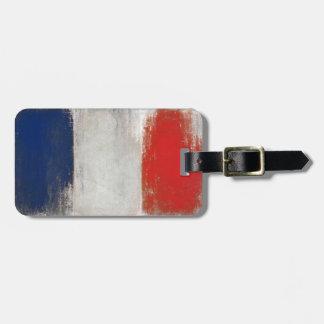Étiquette de bagage avec le drapeau français frais étiquettes bagages