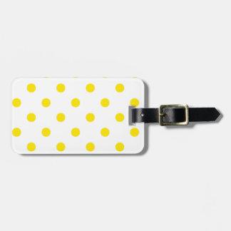 Étiquette de bagage : blanc jaune étiquette pour bagages