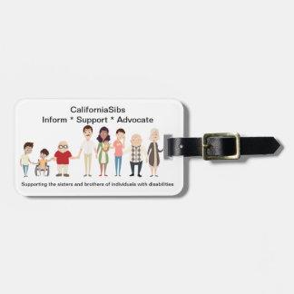 Étiquette de bagage de CaliforniaSibs Étiquette À Bagage