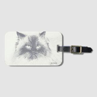 Étiquette de bagage de chat avec le porte-cartes étiquette à bagage