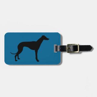 étiquette de bagage de chien de lévrier étiquette à bagage