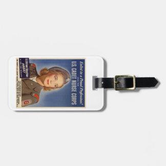 Étiquette de bagage de corps d'infirmière de cadet étiquettes bagages