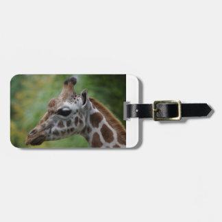 Étiquette de bagage de girafe étiquette à bagage