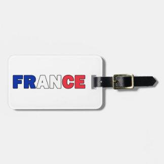 Étiquette de bagage de la France Étiquette Pour Bagages