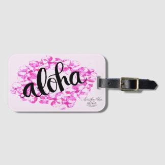 Étiquette de bagage de Lei de Plumeria Aloha Étiquettes Bagages