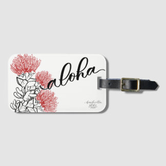 Étiquette de bagage de mod d'Ohia Lehua Aloha Étiquettes Bagages