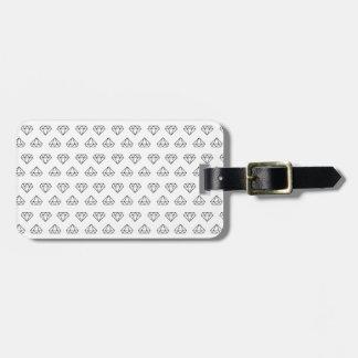 Étiquette de bagage de motif de diamant étiquettes bagages
