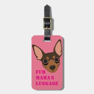 Étiquette de bagage de Pin de minute (chocolat) Étiquettes Bagages