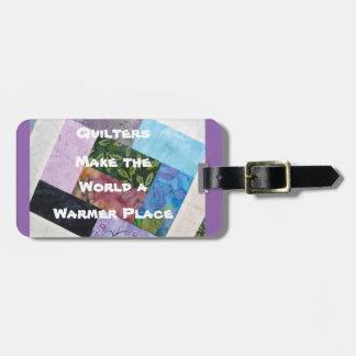 Étiquette de bagage de Quilters Étiquette À Bagage
