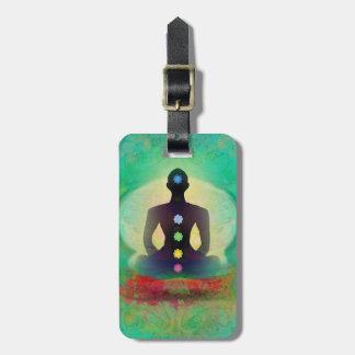 Étiquette de bagage de yoga de méditation étiquettes bagages