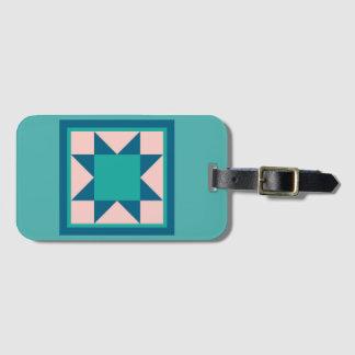Étiquette de bagage - étoile de dent de scie étiquette à bagage