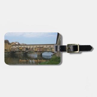 Étiquette de bagage--Pont de Ponte Vecchio Étiquettes Bagages