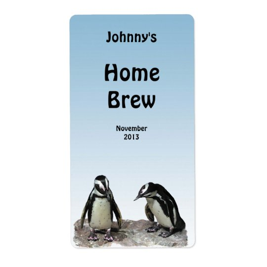 Étiquette de bière de pingouins