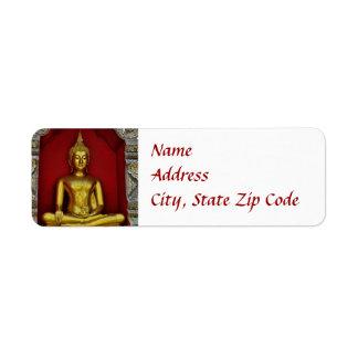 Étiquette de Bouddha d'or