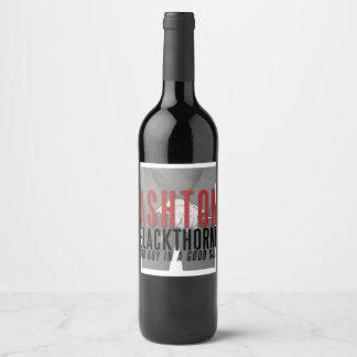 Étiquette de bouteille de vin d'Ashton Blackthorne