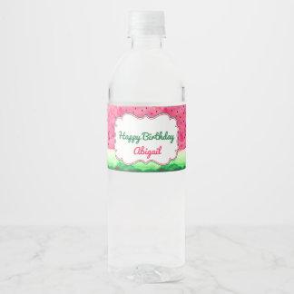 Étiquette de bouteille d'eau de joyeux