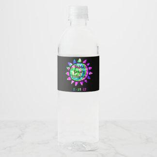 Étiquette de bouteille d'eau d'éclipse solaire de