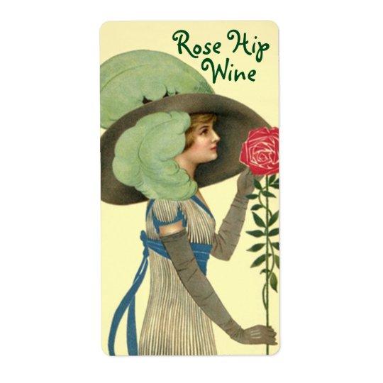 Étiquette de bouteille pour les roses faits maison